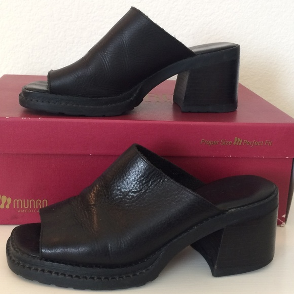 abd9f11ebfc0 MIA black leather slide mules